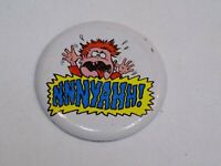 Nnnyahhh! Crying Baby Child Screaming Pin Vintage Old Metal Button Round Pinback
