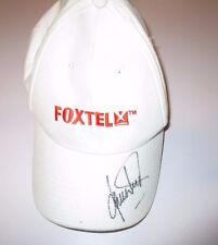 Shane Warne (Australia) signed white Foxtel Cap + COA