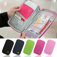 Travel Busines Passport Credit ID Card Wallet Cash Holder Organizer Purse Bag RF