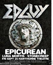 EDGUY 2009 PORTLAND CONCERT TOUR POSTER -METAL
