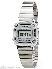 Casio LA670WA-7D Ladies Silver Classic Stainless Steel Digital Watch Alarm Timer