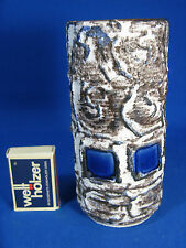 "70´s Ilse Stephan design Schlossberg Keramik "" Capri "" Fat Lava vase 231 15 blue"