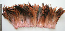 """20g (0.7ozs) 4-6"""" half bronze baby pink schlappen coque rooster feathers, ~200pc"""