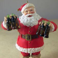 Hallmark Coca Cola CHRISTMAS ORNAMENT SANTA REFRESHING GIFT COKE 1995 in Box