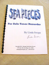 SEA PIECES for solo tenor recorder, 4 movement work by composer Linda Swope