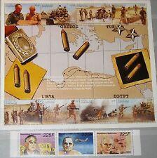 GABON GABUN 1996 Klb 1277-87 812-813 WWII End 2ter Weltkrieg War Scenes MNH