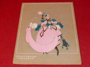 ART DECO COSTUMES RAYMOND FOST OFFENBACH GRANDE DUCHESS 1948 GOUACHE ORIGINAL