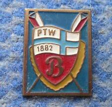 PTW BUDOWLANI PLOCK ROWING POLAND CLUB 1970's PIN BADGE