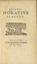 Quintus Horatius Flaccus / 1613 Literature