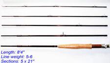 "Dblue Customized Travel Fly Rod 8'4"" 5 pcs + Tube&Sock"