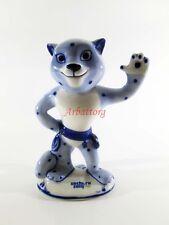 GZHEL. Leopard. Porcelain. Russia Sochi 2014 Olympics. Mascot