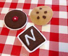 Kids Pretend Play Food Kitchen Groceries FELT Chocolate Chip Cookies Dessert Lot