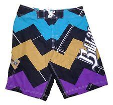 """AJ'z Boardwear Billabong Swim Shorts - Design: Catch & Release Purple Size 34"""""""
