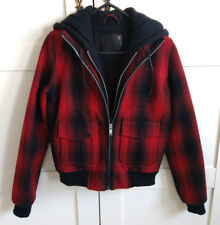 Nouveau R13 Plaid Laine Tweed Zip Sweat à Capuche Veste Aviateur Taille s RRP £ 900