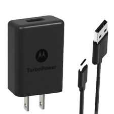 Motorola Turbo Power 15+ Type C Travel Fast Charger  QC3.0 USB to Type C