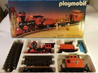 Playmobil Western Eisenbahn Set 4034 mit  Steaming Mary 4054 in OVP, Trafo 4375
