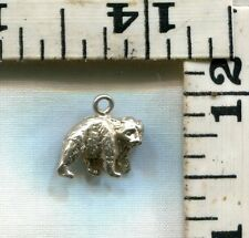VINTAGE STERLING BRACELET CHARM~A DIFFERENT BEAR THAN MOST~JUST $12.99!!!