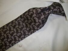 Beooks Brothers Makers Brown Paisley necktie Tie. Excellent Condition 60 X 4