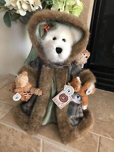 "Boyds Bears FERN WOODSBEARY #99792V 2001 13"" QVC LE ""Woodland Guardian"" MWT🐻🐿"