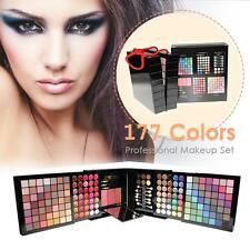 Pro 177 Color Matte Shimmer Eyeshadow Palette Blush Makeup Brushes Set Kit