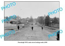 OLD LARGE PHOTO, THORNLEIGH NSW, MAIN STREET LOOKING SOUTH c1900