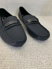 CALVIN KLEIN Merve Men's 10 Shoe Loafer Navy Blue Free Shipping