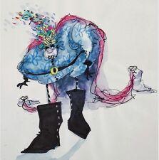 TIM BURTON ORIGINAL ARTWORK FOR THE BLACK CAULDRON ~RENDERED IN INK+ WATERCOLOR