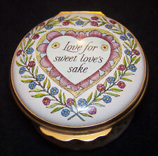 Halcyon Days Bilston & Battersea Enamels Trinket Box St Valentine's Day 1989