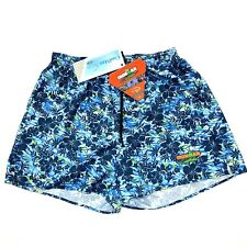 """Ironman Triathlon Women's Lined Shorts Blue Floral Size Small 4"""" Inseam"""