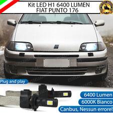 KIT LED ANABBAGLIANTE FIAT PUNTO 176 LED H1 6000K XENON BIANCO 6400 LUMEN CANBUS