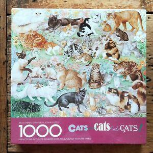 NEW Sealed SPRINGBOK JIGSAW PUZZLE 1000 pc CATS CATS CATS! Breeds ID'ed PZL6117