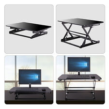 Height Adjustable Stand Up Desk Computer Workstation Lift Rising Laptop Black