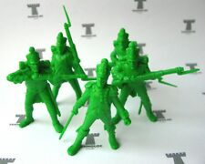 French 54 mm - 5 Figures Soft plastic Tehnolog Russian toy soldiers