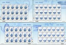 China Taiwan 2019 D682 FULL S/S Stamp Blue & White Porcelain Ancient  Treasures