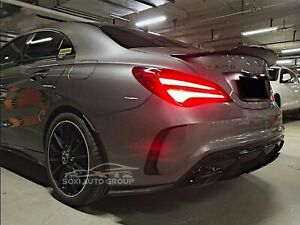 Carbon Fiber Trunk Spoiler Wing PSM Style For 13-19 Mercedes Benz CLA W117 Sedan