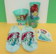 Little Mermaid ARIEL Dish Set Bowl Cup Tupperware Container DECAL Socks SALE