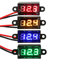 Green Digital LED Display Voltmeter Voltage Gauge Panel Meter Car Motorcycle