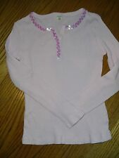 old navy pink longsleeve sequin top super cute (more pink than pic) girls sz M