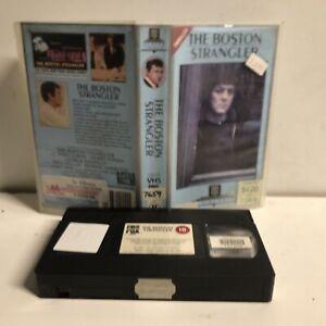 THE BOSTON STRANGLER Small Case BRITISH Sell Thru VHS video CULT HORROR CBS Fox