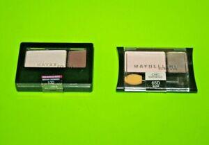 Maybelline Expert Wear Eyeshadow  #65D Dusk +#10D Indian Summer Lot Of 2 Sealed