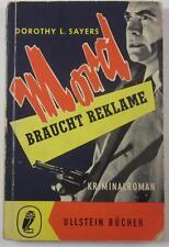 DOROTHY L SAYERS MORD BRAUCHT REKLAME MURDER MUST ADVERTISE 1957 ULLSTEIN BUCHER