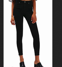 RICH & SKINNY sateen twill super skinny jeggings ankle black jeans 25