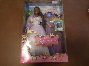 2005 Barbie Rapunzel's wedding J1015 with light up crown NIB