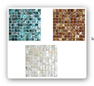 Perlmuttmosaik Mosaik Weiß Braun Grau Blau Fliesen Fliesenspiegel Bad Spa