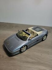 Hot Wheels 1/18 Scale Diecast Ferrari F355 Spider - Silver Used with minor wear