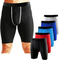 Mens Workout Compression Shorts Skin Base Layer Sports Short Pants Gym Wear