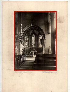 Midcentury Handmade Xmas Card w/Original Photo – Eisfeld Germany Church