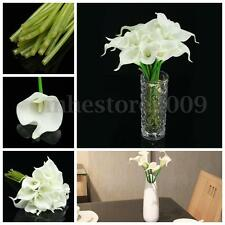 20 Heads Calla Lily Decor Bridal Wedding Bouquet Latex Silk Flower Home Bouquets
