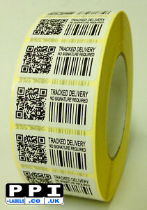 Fake Tracking Labels Stickers Tracked Delivery No Signature Required TD-NSR-ROLL