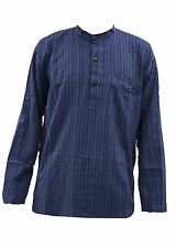 Grandad Long Sleeve Striped Casual Shirts & Tops for Men
